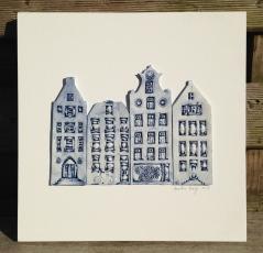 4 houses (26x26cm): €125