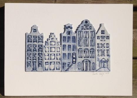 5 houses (26x36cm): €150