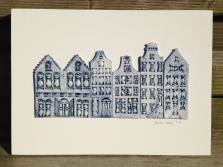 6 houses (26x36cm) €170