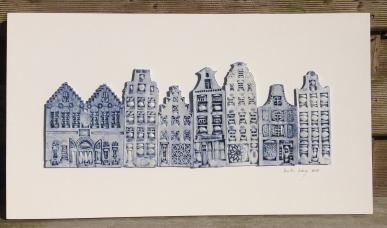 8 houses (50x28cm): €220
