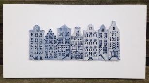 7 houses (50x28cm): €190